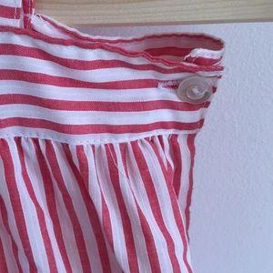 Vintage Dresses - Vintage Linen Candy Striper Dress